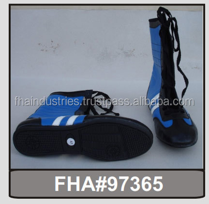 Boxing Shoes / Long / Semi / Wrestling / Martial Art / factory / Shoe Supplier from Sialkot Pakistan FHA INDUSTRIES