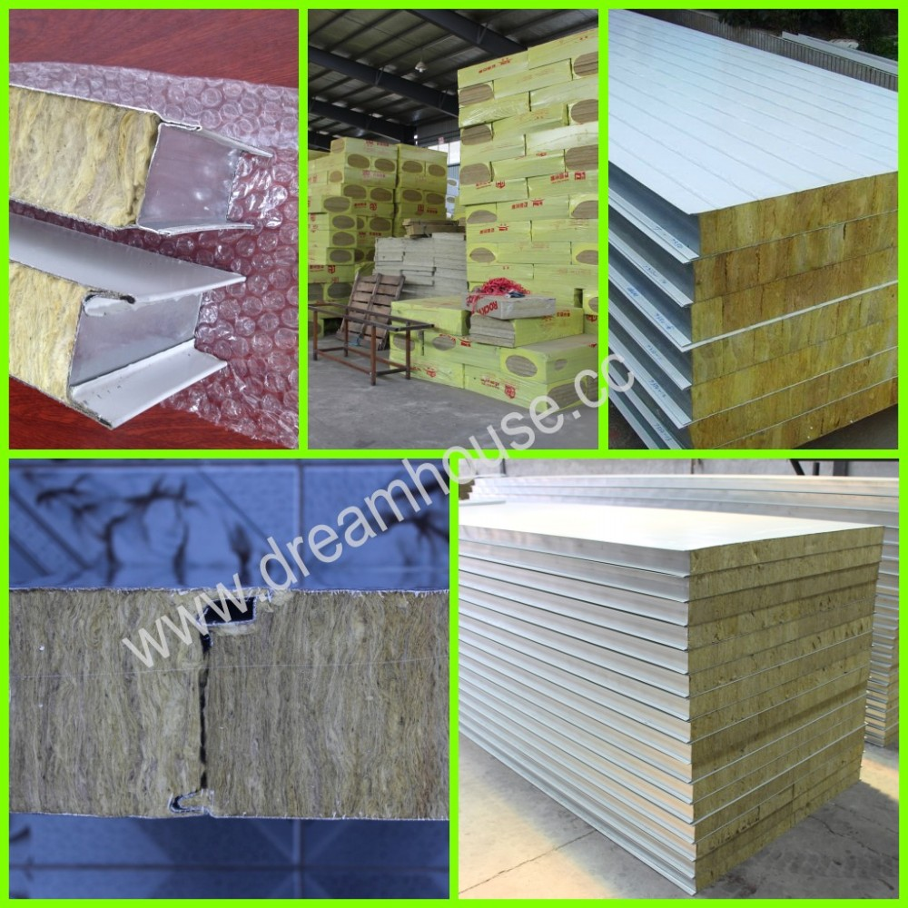 Sip Mineral Wool Sandwich Panel Insulated Rock Wool