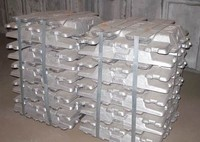 Pure zinc metal manufactures hot zinc ingot