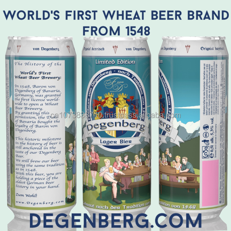 Lager Beer - Degenberg / World's first wheat beer brand, Germany