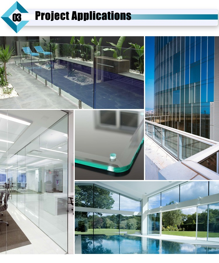 3.2-19mm Semi-tempered Glass / Heat Strengthened Glass Price For Building Glass