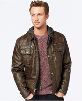 2015 fashion men's cheap faux leather jacket waterproof jacket