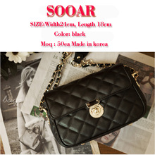 2016 gold chain bags high quality for women bags made in korea
