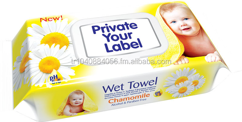 Baby Wet Wipes with Chamomile Extract