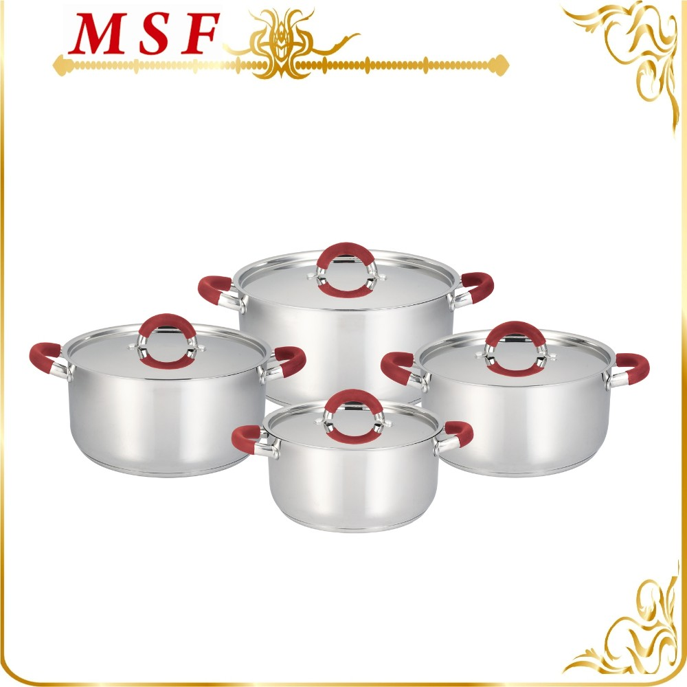 Stainless steel cooking pot 24*7.5cm rice cooker for South American market MSF-3195