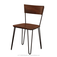 Solid Wood and Metal Cafe Chair