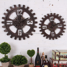 New style metal gear antique clock the family decorates a wall clock