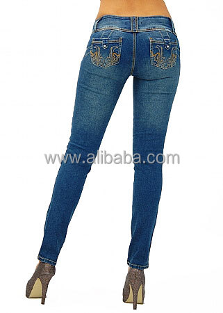 Skinny Washed Denim Sexy Ladies Tight Jeans New Style