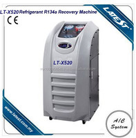 Silver Automatic Air Conditioning Recovery Unit Refrigerant Recycling Machine