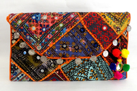 Banjara Gypsy Hand Purse-Banjara Clutches-Wholesale Vintage Patch work Banjara Clutch