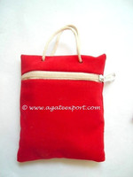 Red Velvet Pouch. - Black velvet gift bags pouch