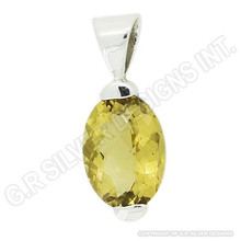 citrine gemstone pendant jewelry,pure sterling silver 925 wholesale handmade pendant suppliers india