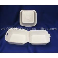 Polystyrene foam box - size 6 for Burger