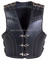 Thick Leather Biker Vest