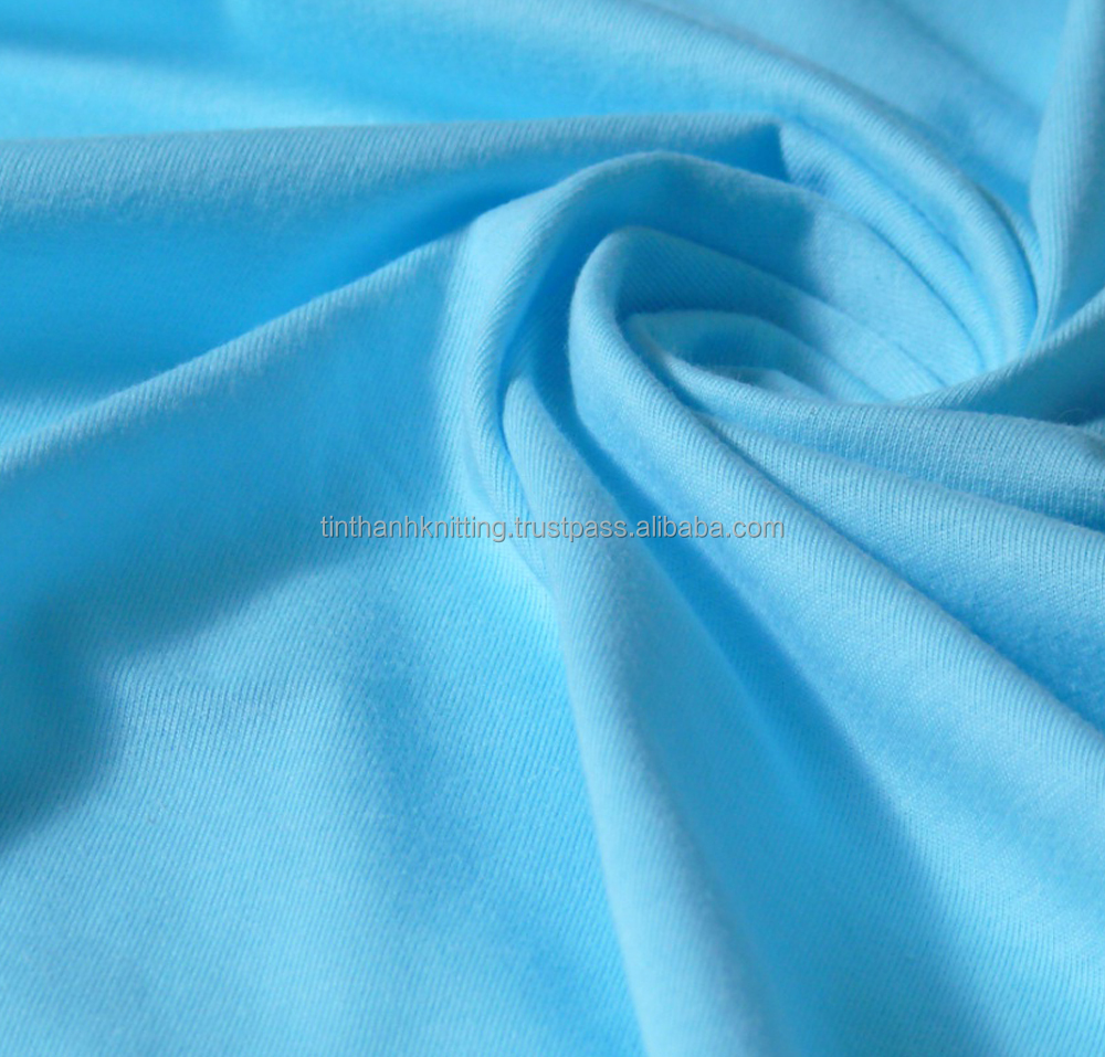 100% Cotton Single Knitted Fabric - Moderate Blue