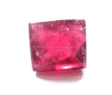 Natural Rubellite Square Rose Cut Loose Gemstone