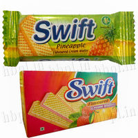 Cream Wafer Biscuits/ swift chocolate strawberry vanilla pineapple flavour wafers