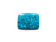 Blue Mohave Turquoise Rectangle Cabochon Loose Gemstone