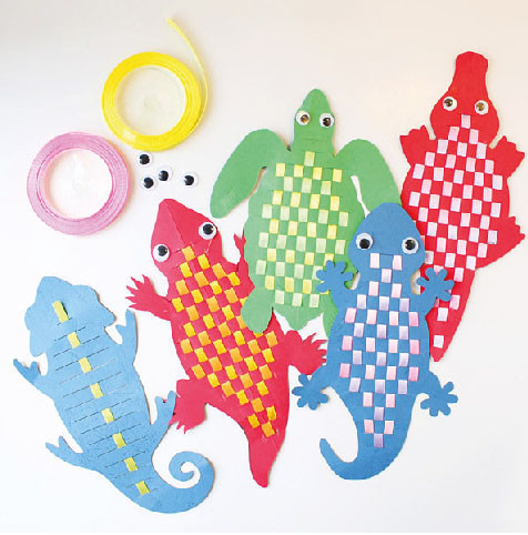 DIY Reptile Bookmark 5 Pack