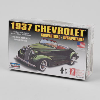 MODEL KIT 37 CHEVROLET CONVERTIBLE LINDBERG #72137