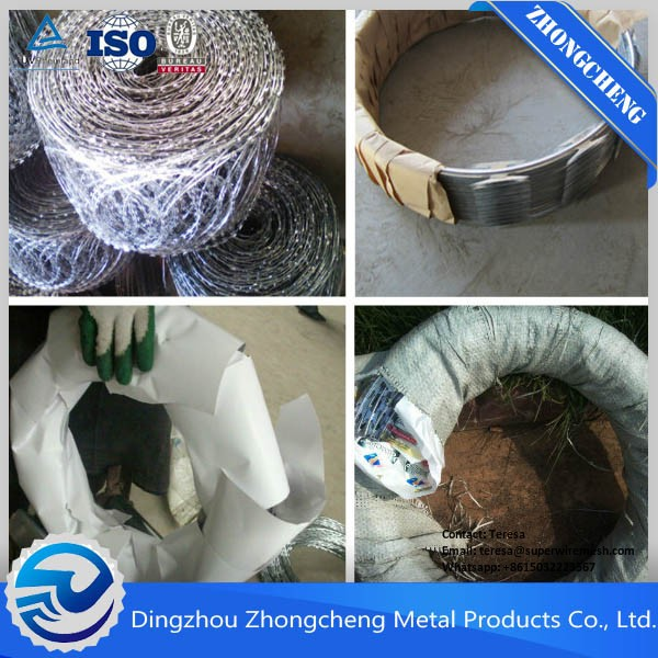 High Security Prison Jail Fence Barbed Wire Coil Razor Barbed Wire Fence With High Quality