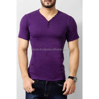 Customized Mens V-Neck T-shirts Screen Prined Logos/ Get T Shirts Made with Your Own Design