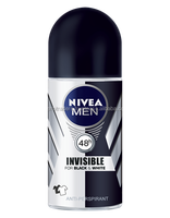 NIVEA MEN Invisible for Black & White Roll-on For men who want protection against yellow stains on underarms of shirts.