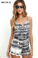 Girls Wear All New Fashionable Rayon Tie & Dye Spaghetti Style Romper/ Jumpsuit