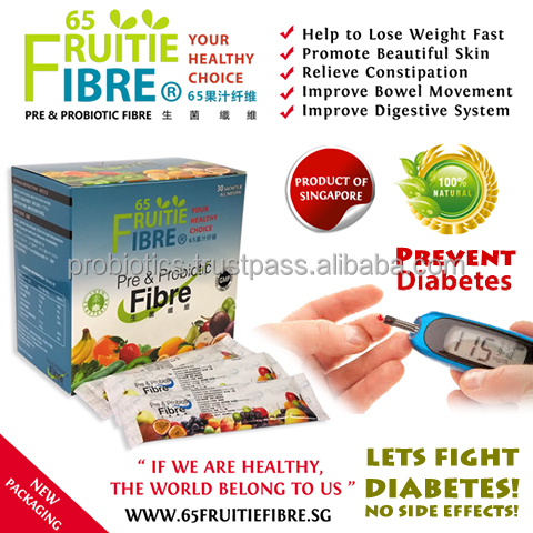 Health Tonic For Diabetes Alternative - 65FruitieFibre Probiotics - 10 + 1 Box FREE Combo Package - Wholesale