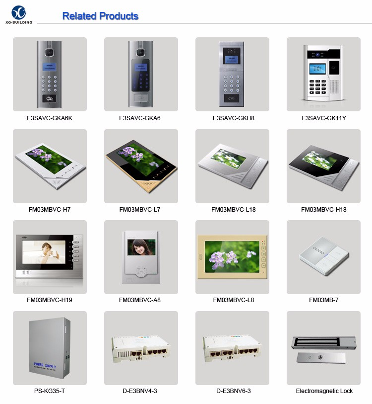 UTP Cable Video Door Phone Handsfree