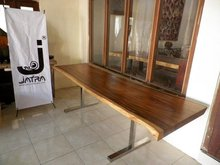 Solid Slab Wood Dining Table
