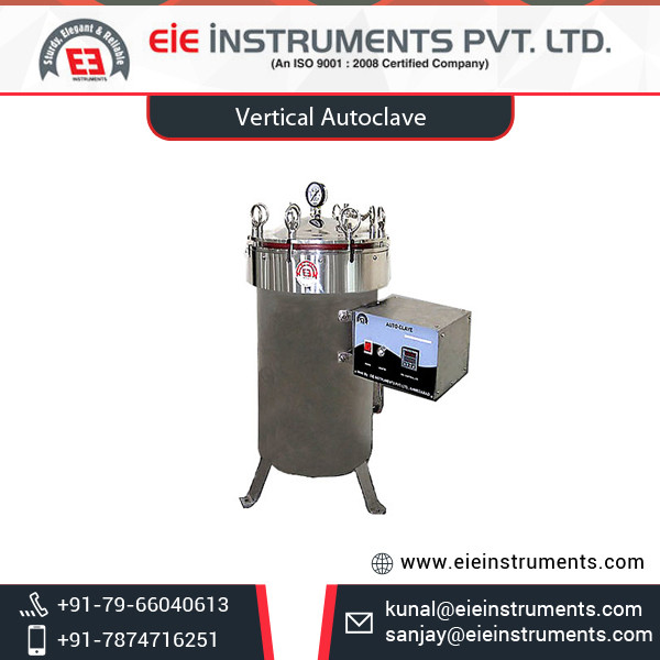 Export Supplier of Top Selling Less Maintenance Vertical Autoclave at Low Price