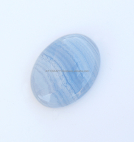 Blue Lace Agate 21x27 mm 100% Natural Oval Shape Loose Gemstone