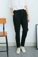 OEM cotton blue long pants trousers for women