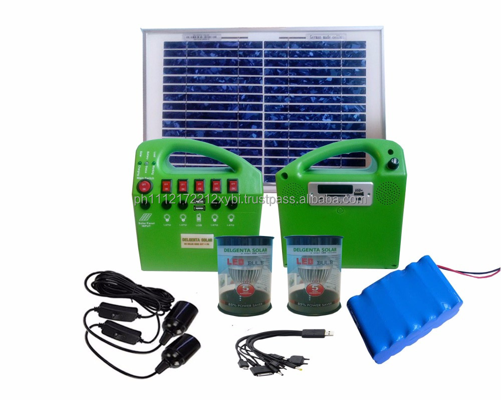Solar Home Kit with MP3 and FM