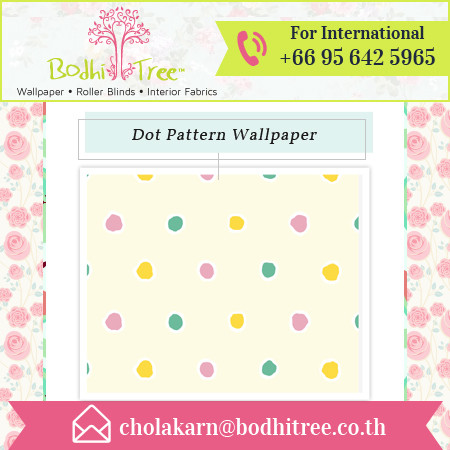 Colorful Polka Dot Pattern Thai Vinyl Wallpaper at Best Price
