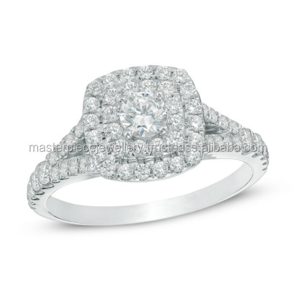 Top Rated 1 CT 10K white gold Diamond halo rings settings engagement designers platinum ring for men