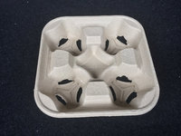 High Quality 4 cup paper pulp tray