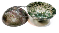 Moss Agate Bowls : Handmade Gemstone Bowls Size 70-75mm : Agate Bowls From INDIA