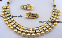 two layer kundan pearl necklace