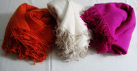 Pure Cashmere Blankets / Throws in solid colours...