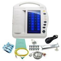 Order your New 12-Channel 12-Lead Large Touch Screen Digital Electrocardiograph E C G E K G Machine