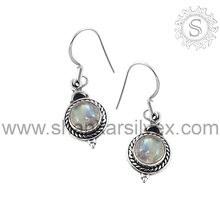 Rainbow Moon Stone Best Gemstone 925 Sterling Silver Wholesale Earring Jewelry ERCB1389(R)