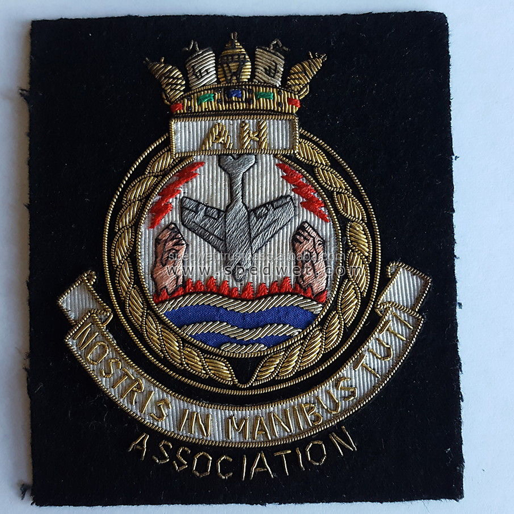 Royal navy aircraft handlers association embroidered bullion badge