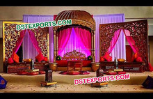 Royal Pakistani Wedding Mehndi Stage/Nikah Wedding Night Mehandi Stage/Beautiful Wedding Mahiyaan Sangeet Stage Decor