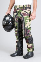 Green Black Camo Motorcycle Textile Pant/waterproof men pants