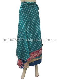 indian silk sari magic wrap skirts