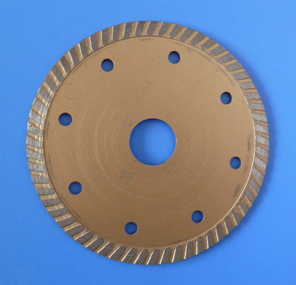 "4.5"" Turbo Diamond Circular Saw Blades Wet or Dry Cutting Ceramic Tile"