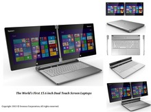 15.6 inch dual touch screen laptops