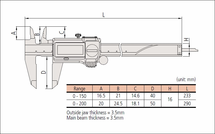 Water-resistance mitsutoyo digital vernier caliper made in Japan